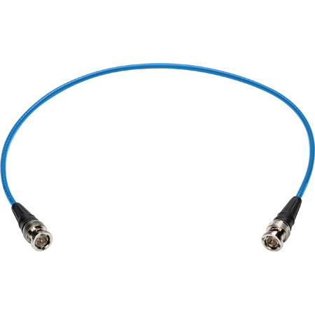 Laird 4855R-B-B-BK-010 Mini-RG59 12G-SDI/4K UHD Single Link BNC Cable - Blue - 10 Foot