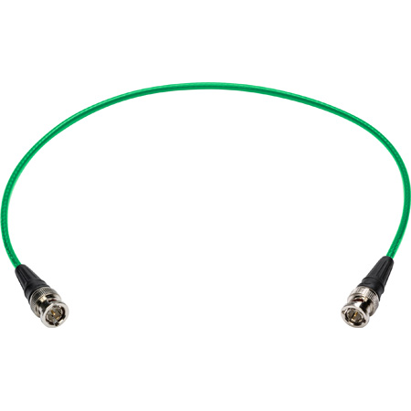 Laird 4855R-B-B-BK-010 Mini-RG59 12G-SDI/4K UHD Single Link BNC Cable - Green - 10 Foot
