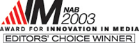 AIM 2003 Editors Choice Award Logo
