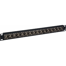 Get larger image of Laird 16X1UHD-BNCR 4K/8K 12G-SDI Feed Through BNC Patch Panel - 16 Point x 1RU