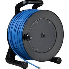 Get larger image of ProReel Series Shielded Category 6 Integrated Cable Reel with Built in RJ45 Jack in Hub - 656 Foot
