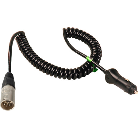 Get larger image of Connectronics Heavy Duty XLM4 to Cigarette Plug High Power Coiled Cables