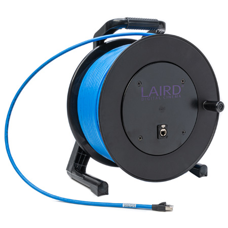 Get larger image of Laird PROREEL-CAT6-328 ProReel Series Shielded Category 6 Integrated Cable Reel w/ Built-In RJ45 Jack in Hub - 328 Foot